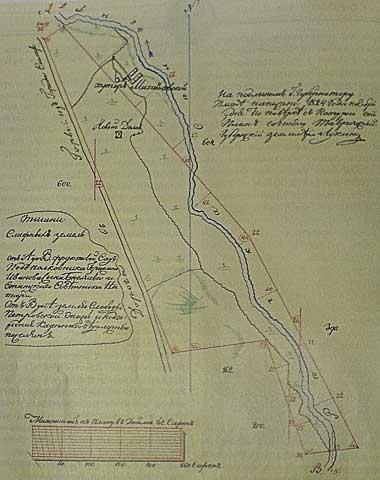 Парк Салгирка. План парка XIX века