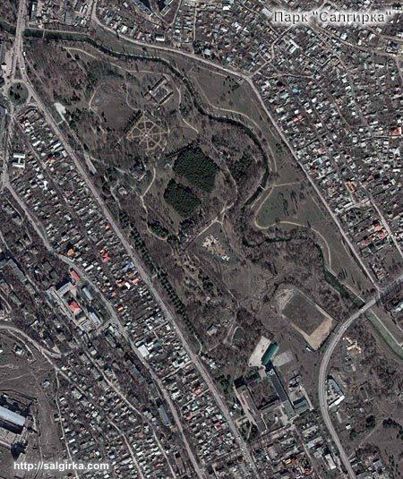 "Парк ""Салгирка"". Фото из космоса"